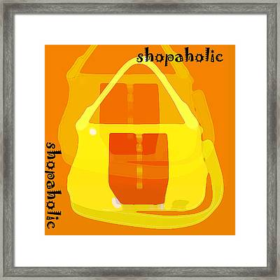 Shopaholic Framed Print by Neha Rautela