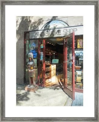 Shopfronts - Smoke Shop Framed Print by Susan Savad