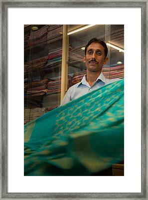 Shopkeeper - India Framed Print by Matthew Onheiber