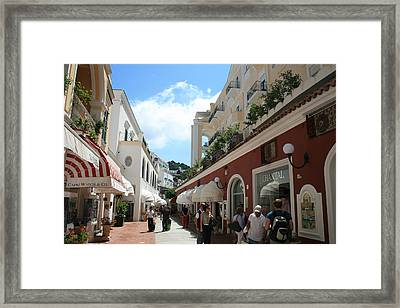 Shoppers Haven Framed Print