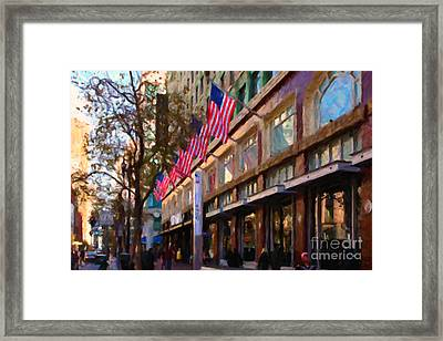 Shopping Along Market Street In San Francisco - 5d20712 Framed Print by Wingsdomain Art and Photography