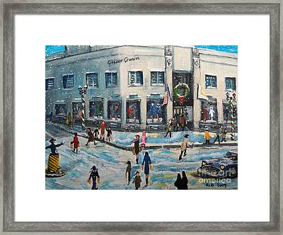 Shopping At Grover Cronin Framed Print by Rita Brown