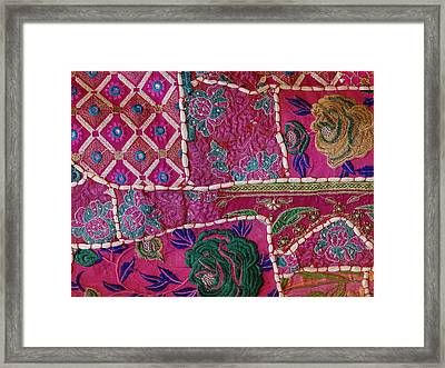 Shopping Colorful Tapestry Sale India Rajasthan Jaipur Framed Print