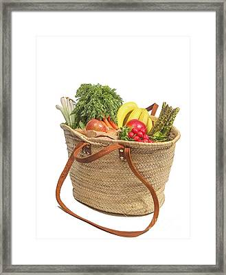 Shopping For Orrganic Fruit And Vegetables  Framed Print by Patricia Hofmeester
