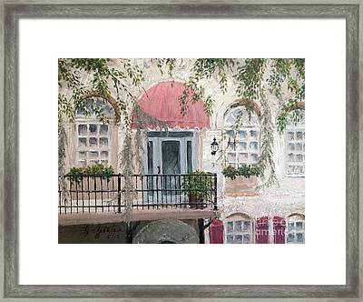 Framed Print featuring the painting Shopping In Savannah by Marilyn Zalatan