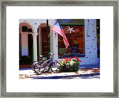 Shopping In The Hamptons Framed Print by Jacqueline M Lewis
