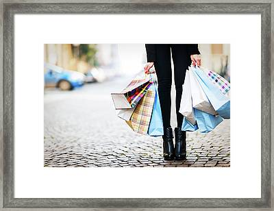 Shopping Framed Print by Larabelova
