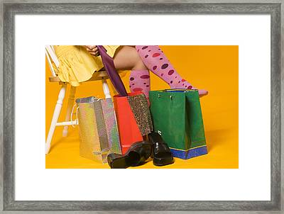 Shopping Legs Framed Print
