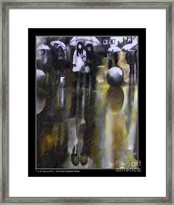 Shopping On A Rainy Afternoon Framed Print