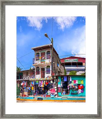 Shopping On The Streets Of Nicaragua Framed Print