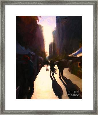 Shopping Stands Along Market Street At San Francisco's Embarcadero - 5d20841 V2 Framed Print by Wingsdomain Art and Photography