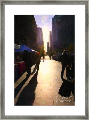 Shopping Stands Along Market Street At San Francisco's Embarcadero - 5d20842 Framed Print by Wingsdomain Art and Photography