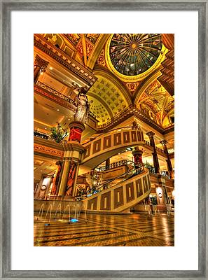 Shops Of Gold Framed Print by Zachary Cox