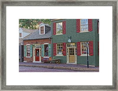 Shops S Main St Charles Mo Dsc00886  Framed Print by Greg Kluempers
