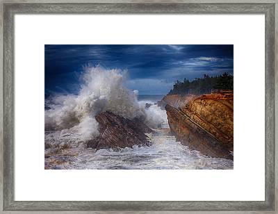 Shore Acre Storm Framed Print by Darren  White