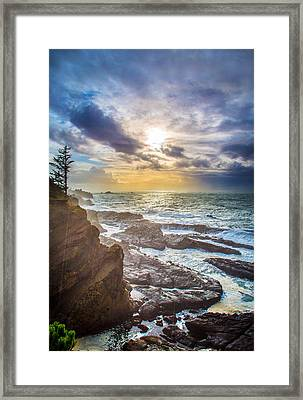 Shore Acres Storm Framed Print by Robert Bynum