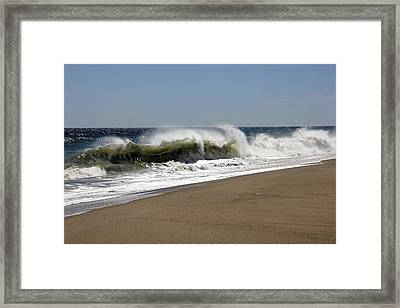 Shore Break Framed Print