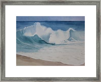 Shore Breaker Framed Print by Parrish Hirasaki