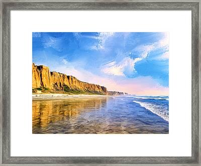 Shore Cliffs Near San Onofre Framed Print