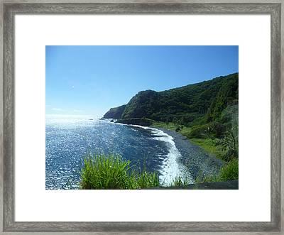 Shore Line In Paradise Framed Print