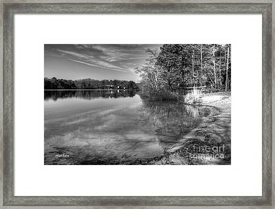 Shore Of Serenity Framed Print by Michelle Wiarda