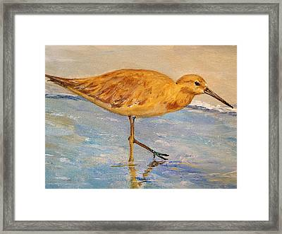 Framed Print featuring the painting Shore Patrol I by Alan Lakin