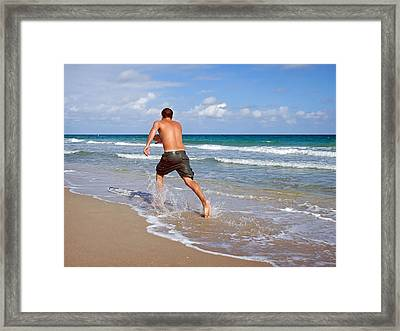 Framed Print featuring the photograph Shore Play by Keith Armstrong