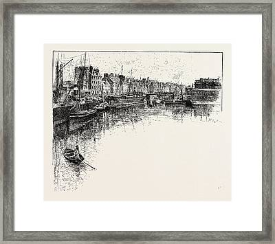 Shore Street, Leith,  Lies On The South Shore Of The Firth Framed Print
