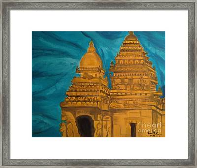 Shore Temple Framed Print by Brindha Naveen