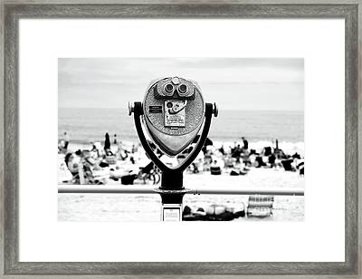 Shore View Framed Print by John Rizzuto