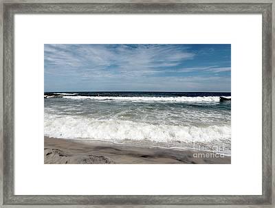 Shore Waves At Lbi Framed Print