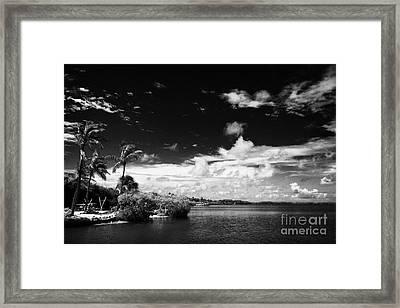 Shoreline And Coastal Views Islamorada Florida Keys Usa Framed Print by Joe Fox