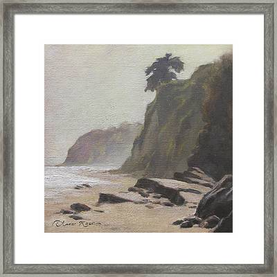 Shoreline Atmosphere Santa Barbara Framed Print by Anna Rose Bain