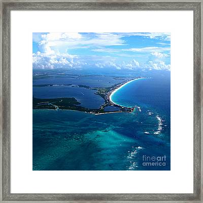 Shoreline-cancun Framed Print by Addie Hocynec
