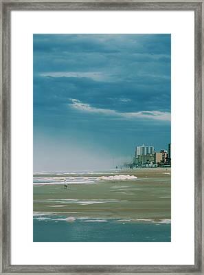 Shoreline Daytona Framed Print by Paulette Maffucci