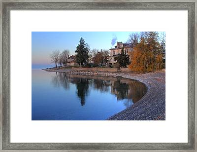 Framed Print featuring the photograph Shoreline - Kingston Ontario by Jim Vance