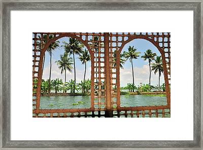 Shoreline Of The Kerala Backwaters Framed Print by Steve Roxbury