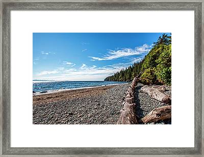Shoreline Of Vancouver Island Framed Print by James White