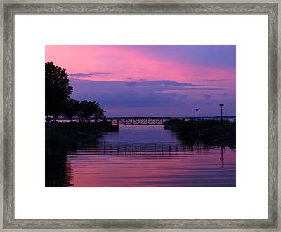 Shoreline Park At Dusk Framed Print