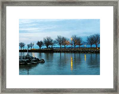 Shoreline Park - Twilight Reflections Framed Print