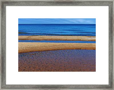 Framed Print featuring the photograph Shoreline Reefs by Kathi Mirto