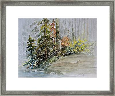 Shoreline Sketch Framed Print