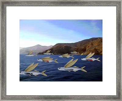 Shoreline Squadron Framed Print by Snake Jagger