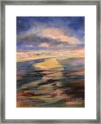Shoreline Sunrise 11-9-14 Framed Print by Julianne Felton