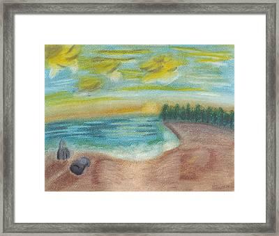 Shoreline Framed Print by Susan Schmitz