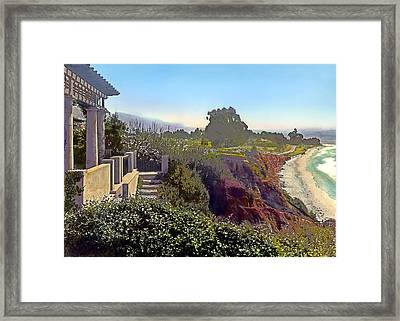 Shoreline Framed Print by Terry Reynoldson