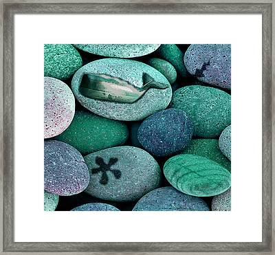 Shoreline Treasures Framed Print by Lauranns Etab