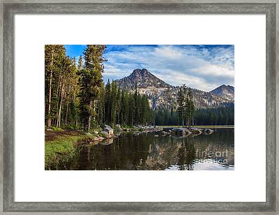 Shoreline View Of Anthony Lake Framed Print by Robert Bales