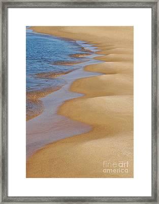 Shoreline Wavy Framed Print