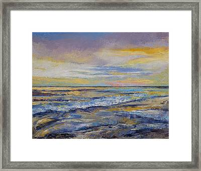Shores Of Heaven Framed Print by Michael Creese